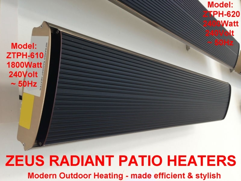 1800W RADIANT PATIO HEATER SLIMLINE